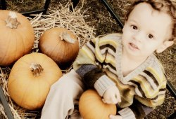 Eli and pumpkins