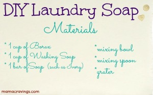 DIY Laundry Soap Materials