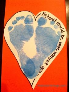 heart feet valentine