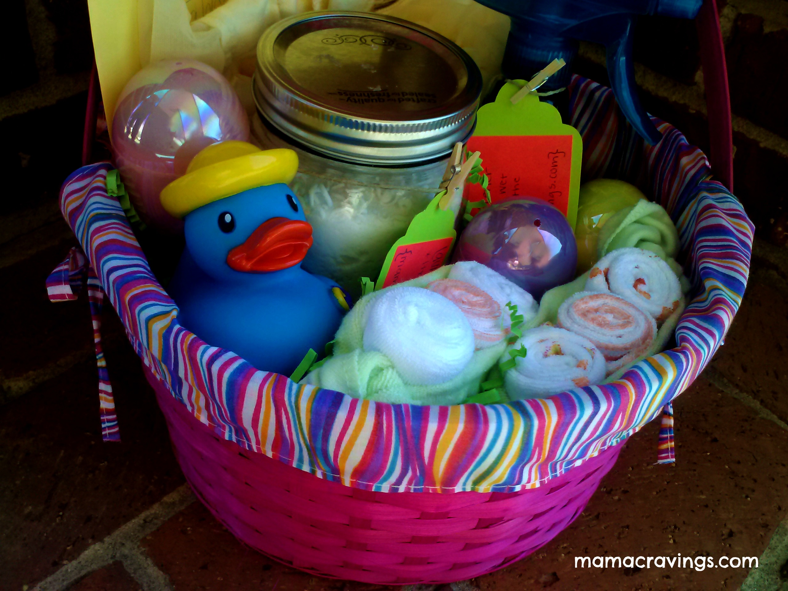 Inspiration for spring baby gift easter basket mamacravings 0316131333a negle Choice Image