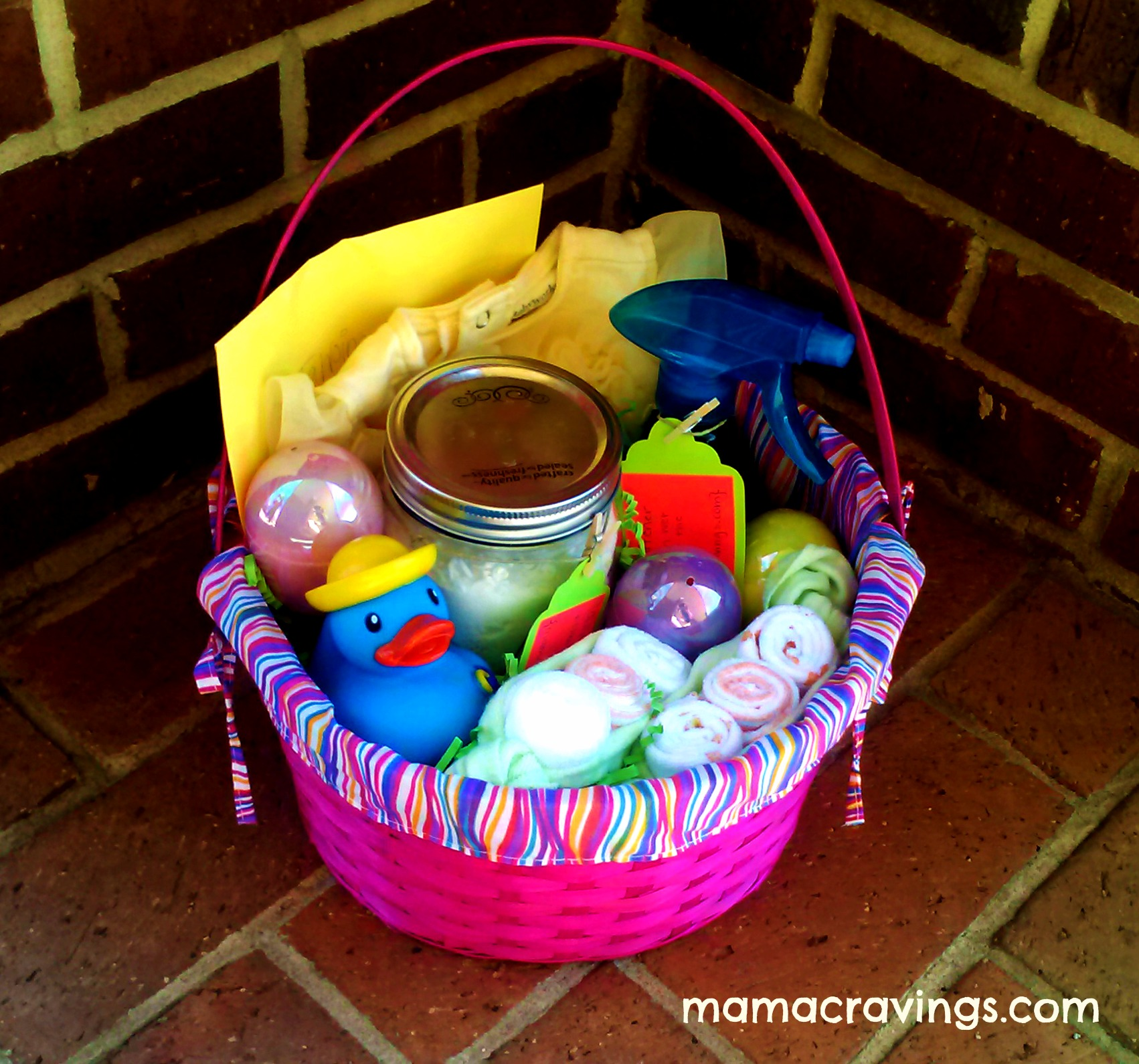 Inspiration for spring baby gift easter basket mamacravings baby easter basket negle