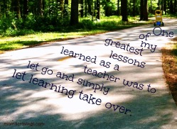 Teaching is about letting go